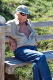 Old man on bench Royalty Free Stock Photo