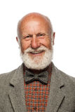 Old man with a big beard and a smile Stock Images