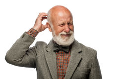 Old man with a big beard and a smile Royalty Free Stock Images