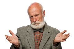 Old man with a big beard and a smile Stock Image