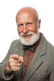 Old man with a big beard and a smile Stock Photography
