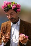 Old man on the Bulgarian Rose Festival Royalty Free Stock Images