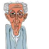 Old man cartoon. Royalty Free Stock Images