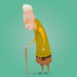 Old man cartoon character. Stock Photography