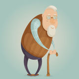 Old man cartoon character. Royalty Free Stock Images
