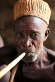 Old man at an ceremony in Benin Royalty Free Stock Photo