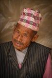 Old man of Chhaimale village, 29km south of Kathmandu, Nepal. Royalty Free Stock Photos