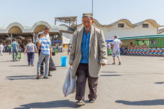 Old man at Chorsu Bazaar in Tashkent, Uzbekistan Royalty Free Stock Photo