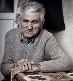 Old man closeup. Closeup portrait of an expressive old man in his 80s Royalty Free Stock Photos