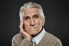 Old man closeup portrait Royalty Free Stock Image