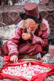Old man with crystals Royalty Free Stock Images