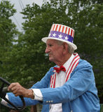 Old Man Dressed as Uncle Sam Stock Photos