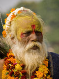 An old man dressed up for the Diwali Festival Royalty Free Stock Photography