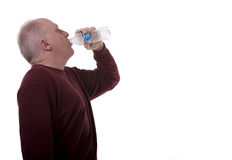 Old Man Drinking Water Royalty Free Stock Image