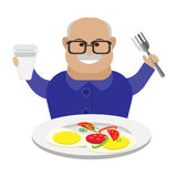 Old man eats Royalty Free Stock Images