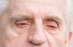 Old man eyes stock photos
