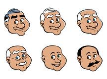 Old man faces Stock Images
