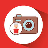 Old man fathers day gift camera Stock Image