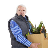The old man fired Stock Images
