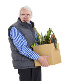 The old man fired Royalty Free Stock Photo