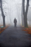 Old man in a fog Stock Image