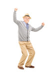 Old man gesturing happiness Royalty Free Stock Images