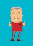 Old man giving a thumbs up  illustration Royalty Free Stock Photo