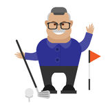 Old man golf Stock Image