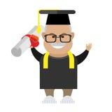 Old man graduation Stock Image