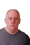 Old Man in Gray Shirt Sad Royalty Free Stock Images