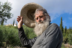 Old man in Greece Stock Photo