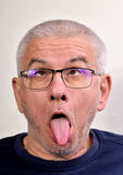 Old man grimace Royalty Free Stock Photos