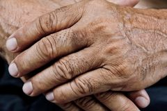Old man hand Royalty Free Stock Photos