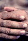 Old man hand Stock Photography