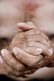 Old man hand Stock Photos
