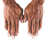 Old man hand Royalty Free Stock Photo
