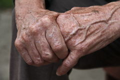 Old Man Hands Stock Image