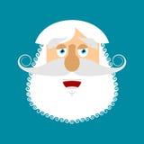 Old man happy Emoji. senior with gray beard face laughs emotion Royalty Free Stock Photo