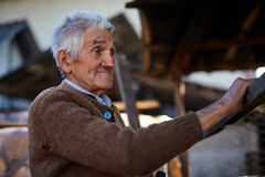 Old man happy Stock Images