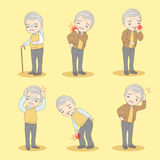 Old man has different problem Stock Photography