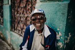 Old man in Havana royalty free stock photo