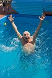 Old man having fun. Royalty Free Stock Photos