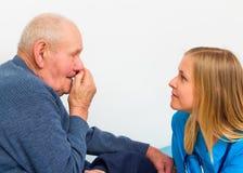 Old Man Having Influenza Stock Image
