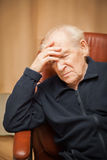 Old man with a headache Royalty Free Stock Photos
