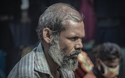 Old Man Lifestyle In Bangladesh royalty free stock image