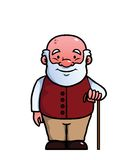 Old man holding a cane Royalty Free Stock Image