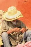 Old man holding a rosary. Marrakesh. Morocco Royalty Free Stock Photography