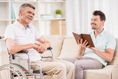 Old man at home Royalty Free Stock Photography