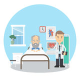 Old man in hospital. Royalty Free Stock Photography