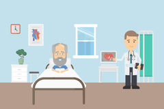 Old man in hospital. Stock Photography